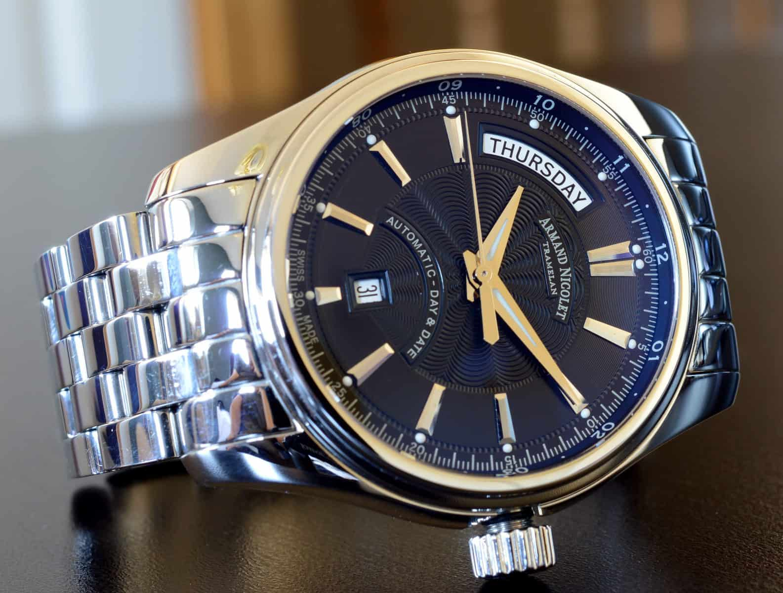 Armand nicolet m02 day date review reviews by wyca for Armand nicolet watches
