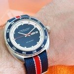 Hamilton Pan-Europ with Nato Strap Wrist Shot