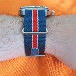 Hamilton Pan-Europ with Nato Strap Wrist Profile