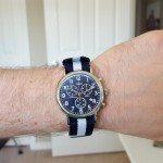 Timex Weekender Chronograph & Barton Nato Strap Wrist Shot