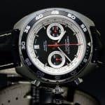 Hamilton Pan-Europ Chronograph on Black Leather