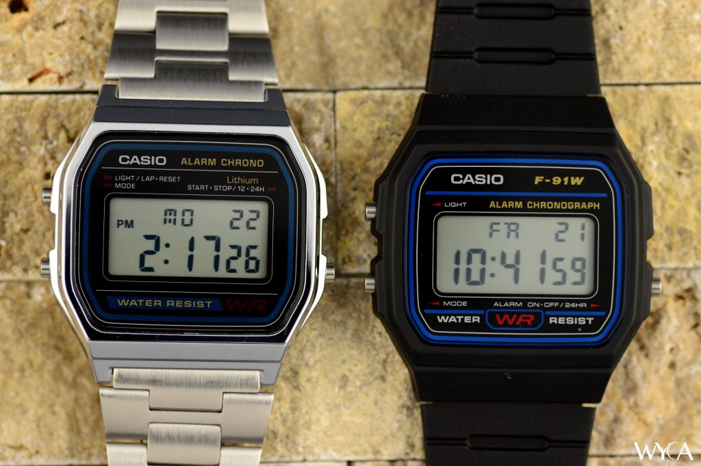 Casio F-91W & Casio A-158W Digital Watches