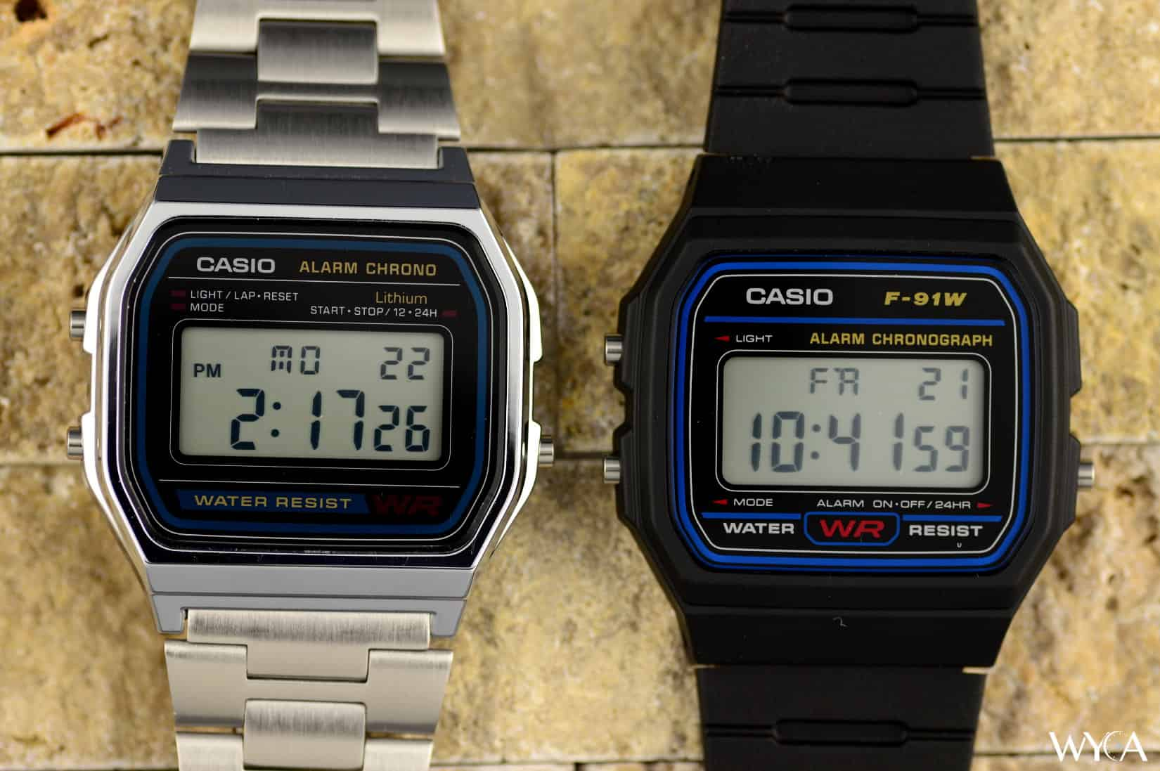 Casio F-91W & Casio A-158W Digital Watches