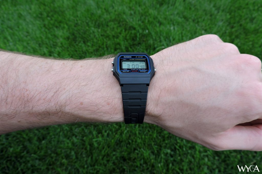 Casio F-91W Wrist Shot