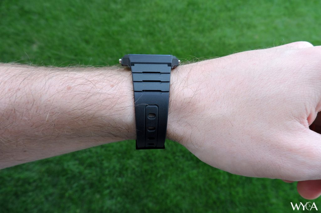 Casio F-91W Wrist Profile