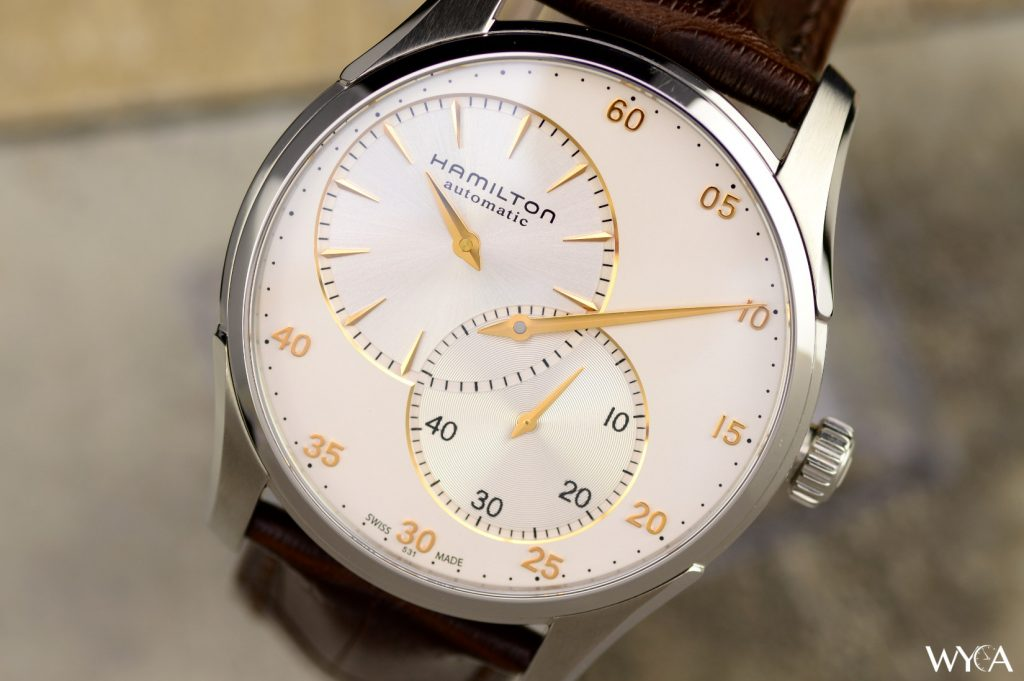 Hamilton Jazzmaster Regulator in Cream & Rose Gold