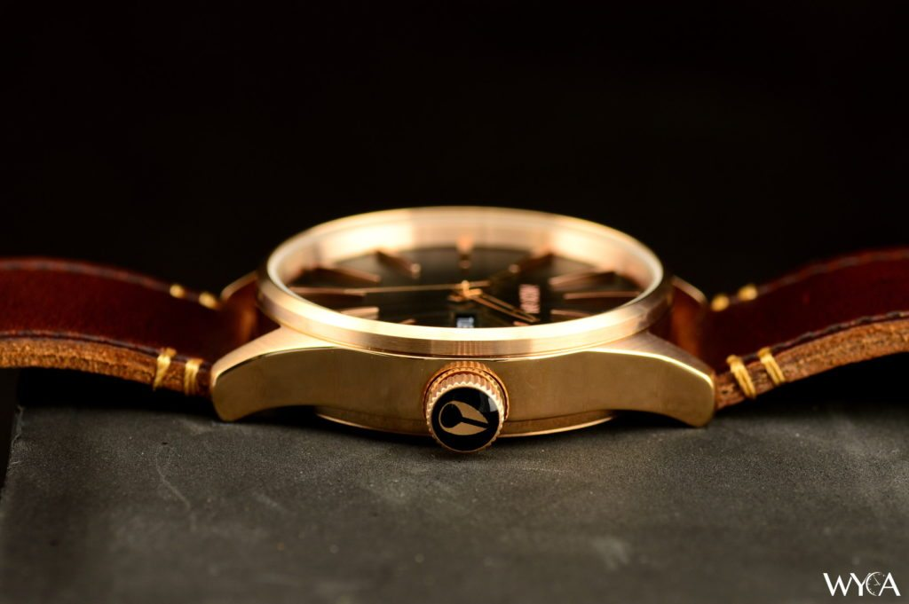Nixon Sentry Leather A105 - Rose Gold Case