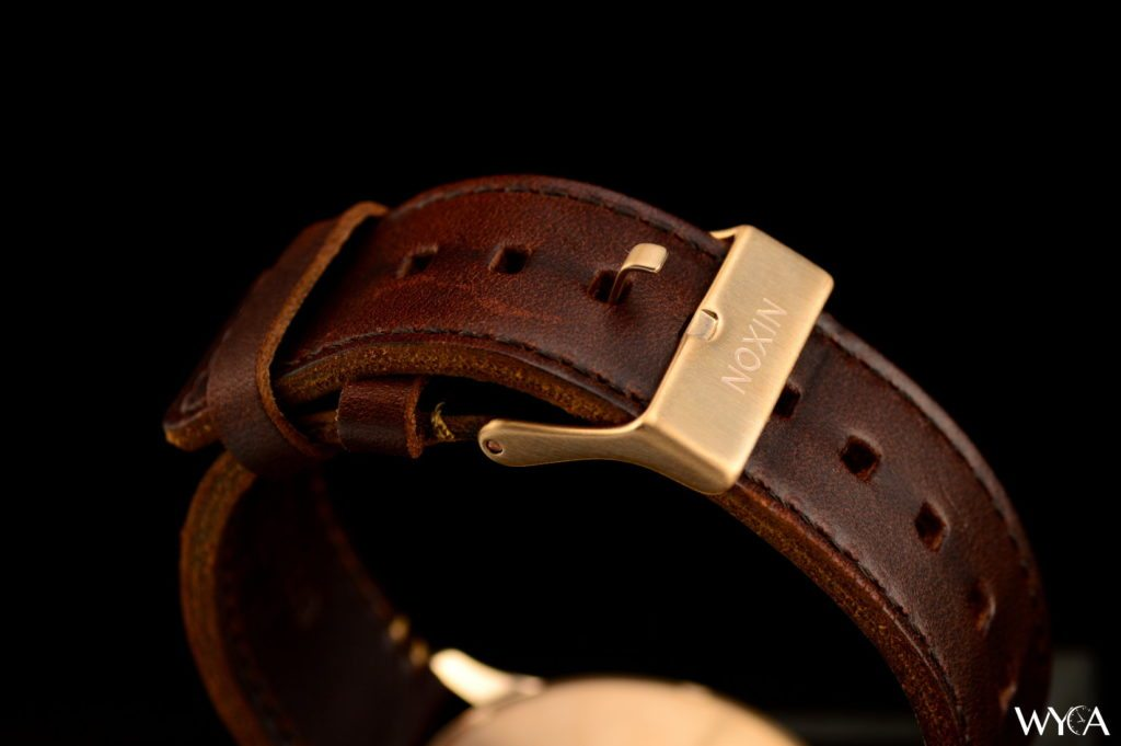 Nixon Sentry Leather Rose Gold Clasp
