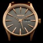Nixon Sentry Leather A105 - Rose Gold & Brown