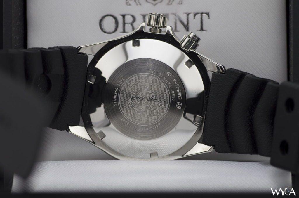 Orient Mako Rubber FEM65003DW Caseback