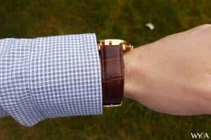 Rose Gold Tuseno First 42 Wrist Profile