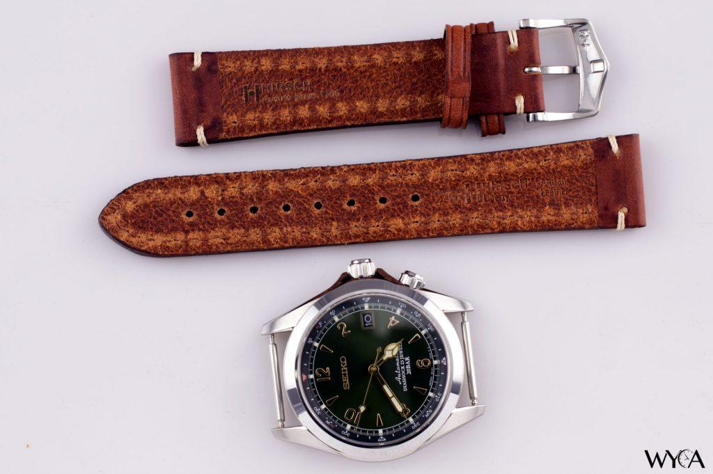 Hirsch Liberty Tan Leather Strap & Seiko Alpinist