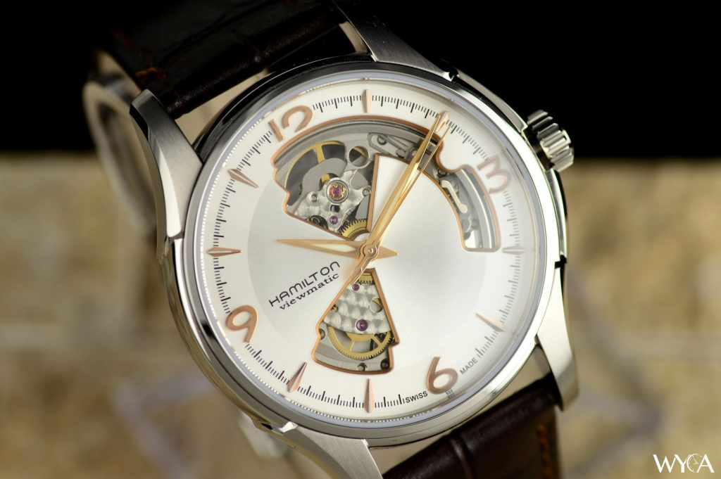 Hamilton Jazzmaster Open Heart in Rose Gold