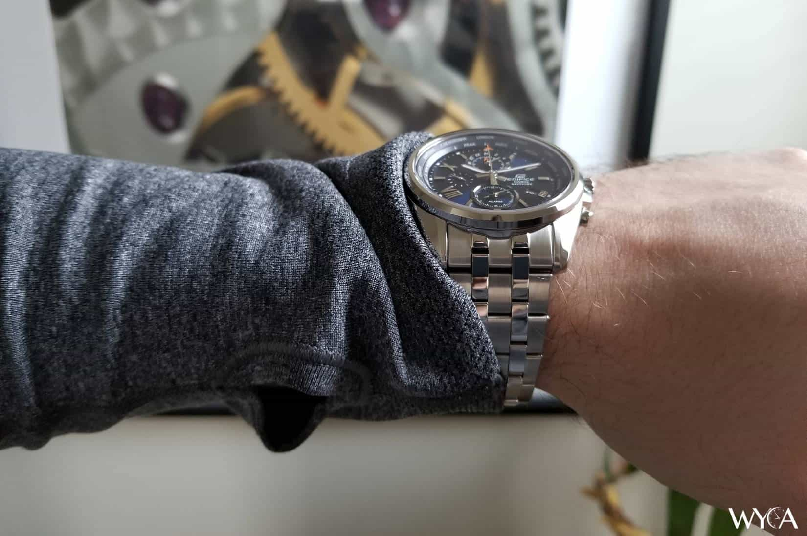 Casio Edifice World Time Wrist Shot