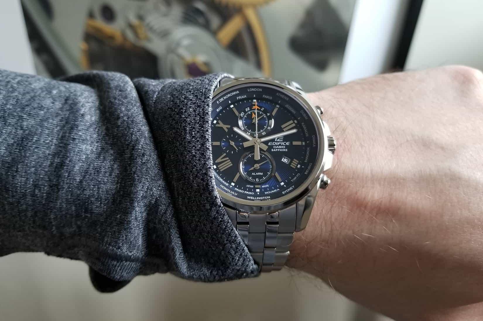 Casio Edifice World Time Wrist Shot 87e4a63cd