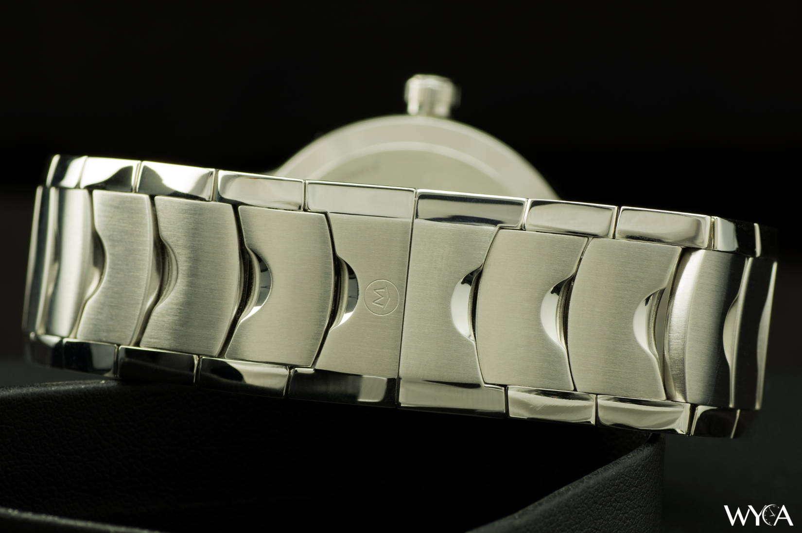 Movado Luno Steel Bracelet & Deployant Clasp