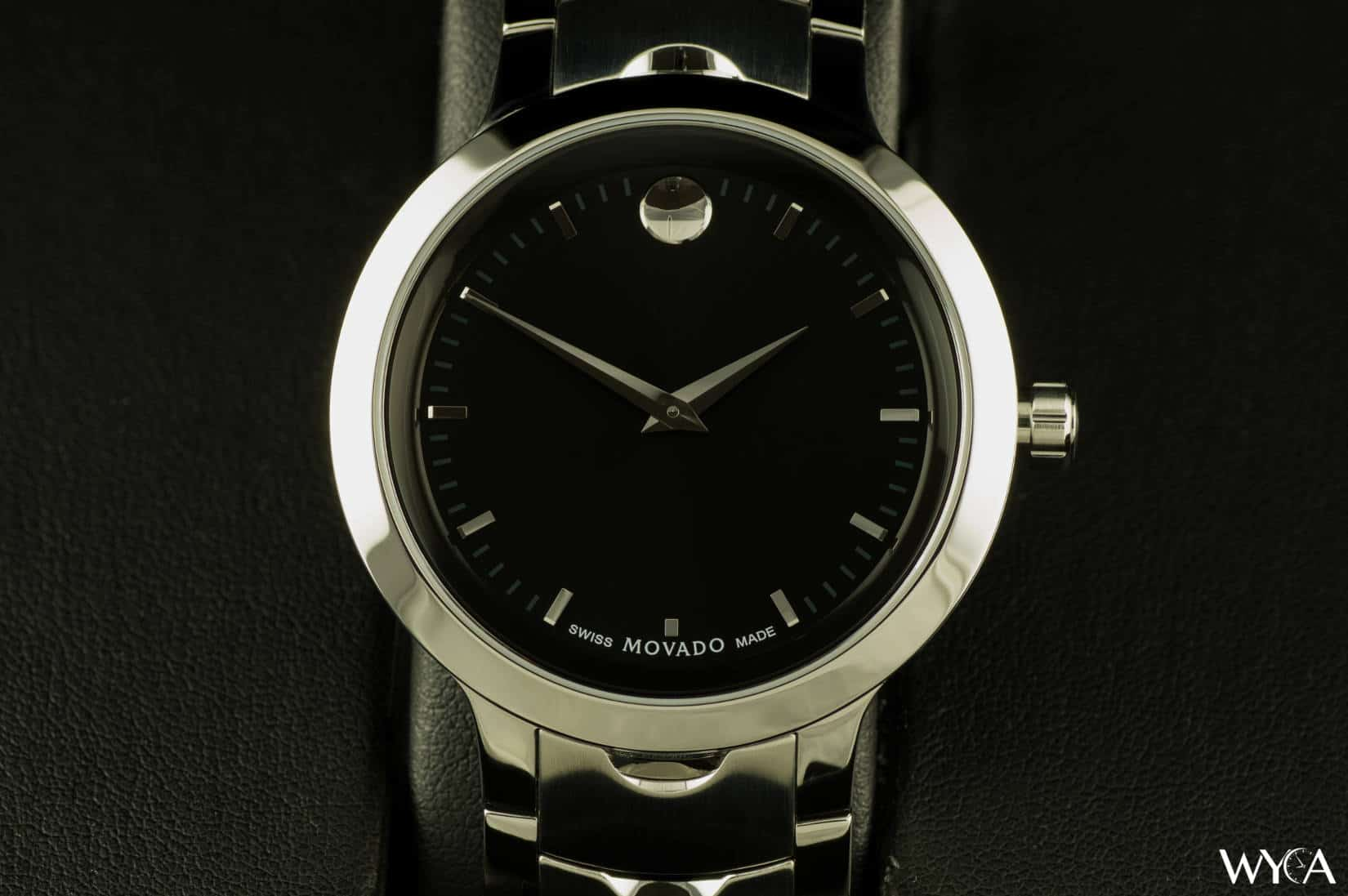 movado men s dial museum luno black watch watches