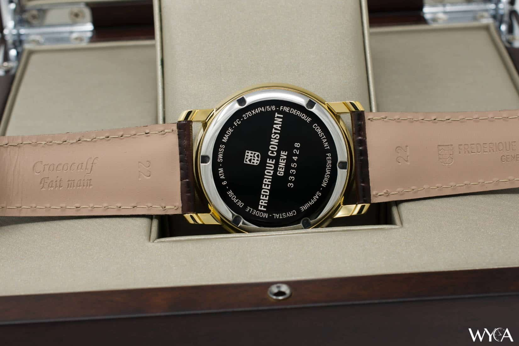 Frederique Constant Classics Business Timer FC-270SW4P5 Caseback
