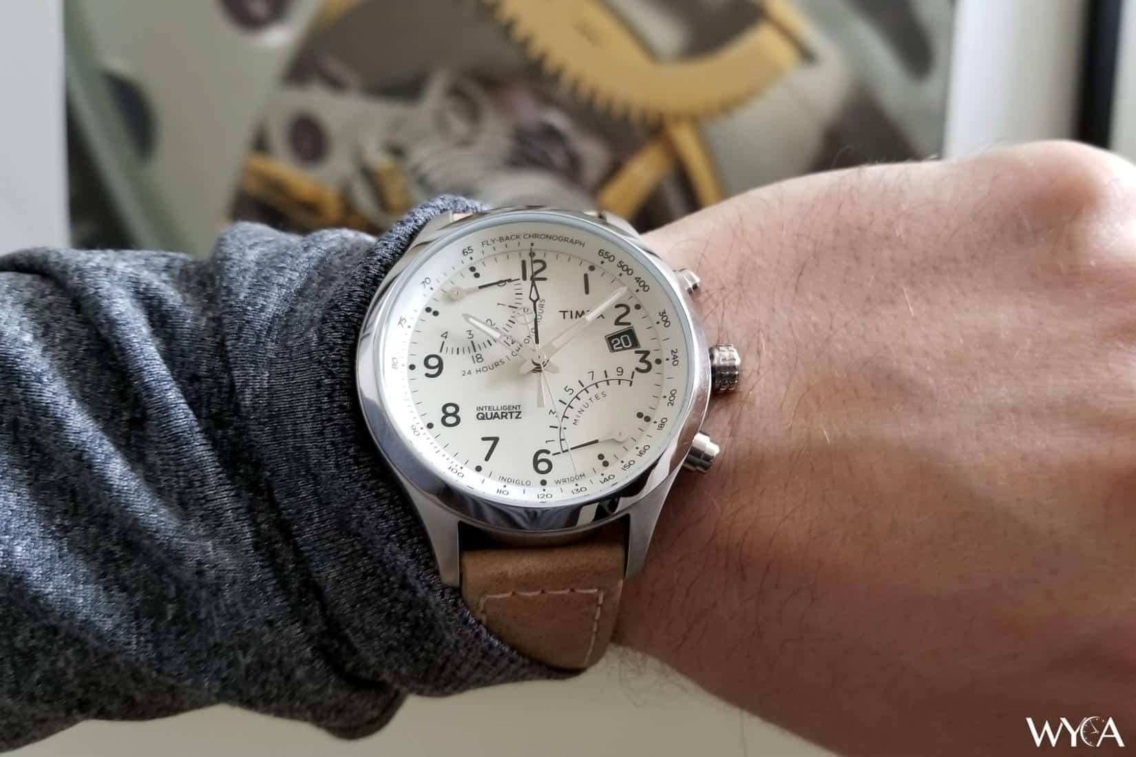 Timex Intelligent Quartz Flyback Chronograph Wrist Shot