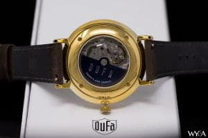 Miyota 8217 In The DuFa Aalto Regulator DF-9017