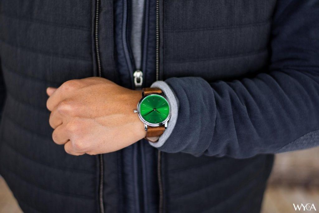 Raymond & Pearl Horizon Adventure Green Wrist Shot